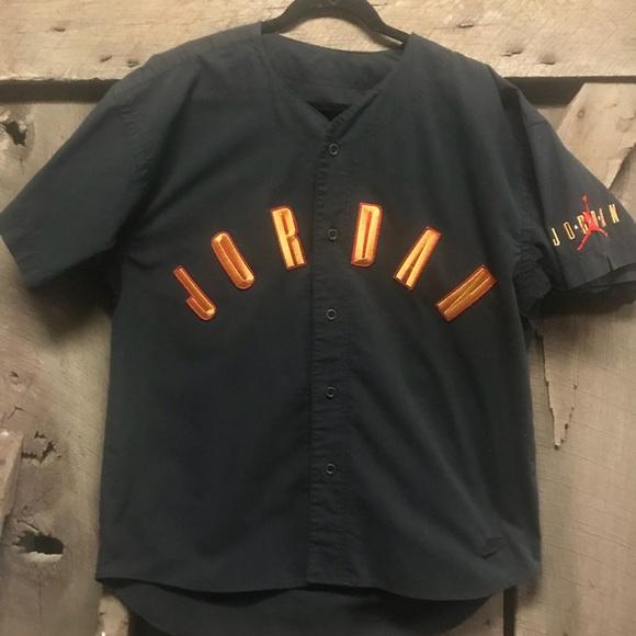 05e69b70f79 Vintage Shirts | Rare Michael Jordan Baseball Jersey Black | Poshmark